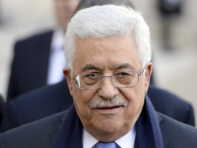 This is the Palestinian president's third visit to the country during his tenure. PHOTO: AFP