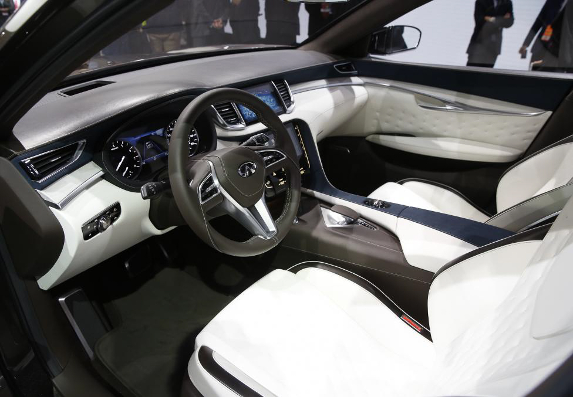 Interior view of the Infiniti QX50 concept car. PHOTO: REUTERS