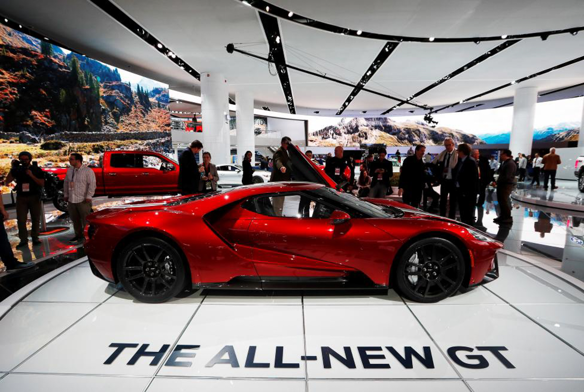 A 2017 Ford GT is displayed. PHOTO: REUTERS