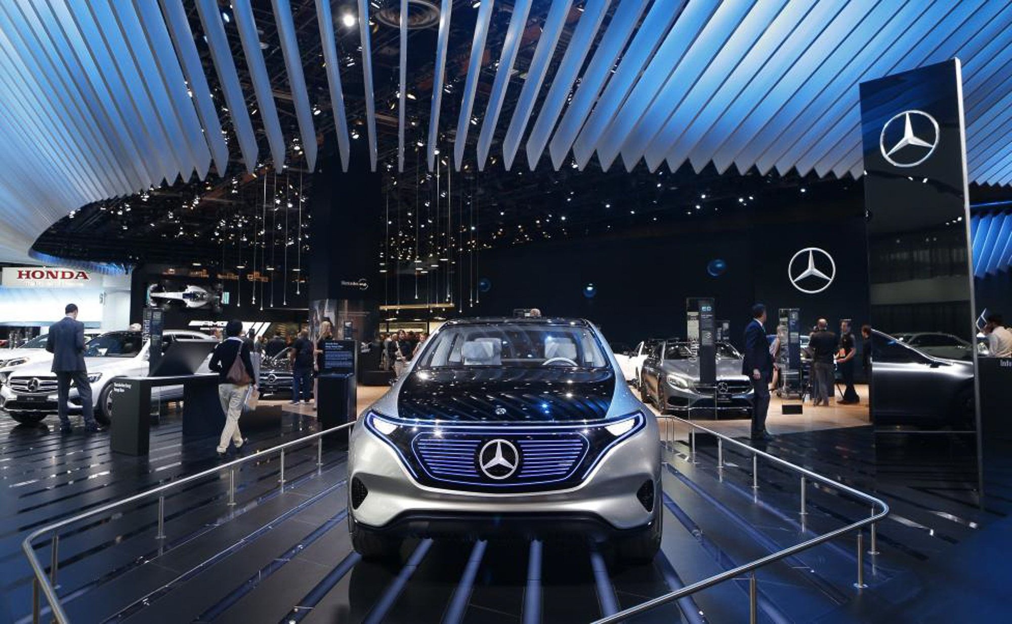 The Mercedes-Benz EQ electric concept car.  PHOTO: REUTERS