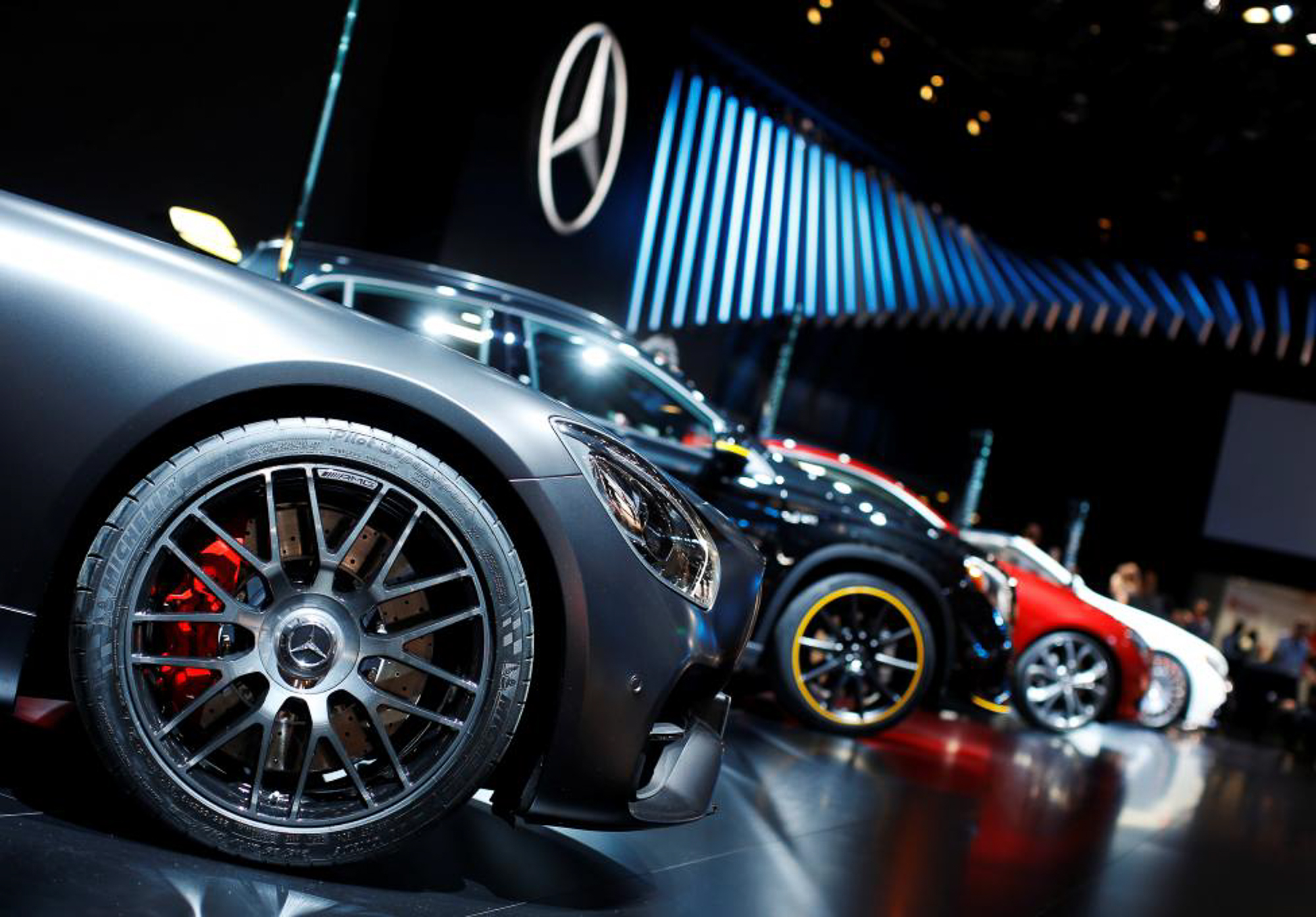 Mercedes Benz vehicles.  PHOTO: REUTERS