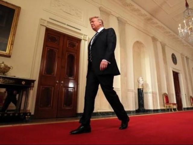 US President Donald Trump arrives to announce his nomination of Neil Gorsuch for the empty associate justice seat of the US Supreme Court at the White House in Washington, DC.  January 31, 2017.  PHOTO: REUTERS