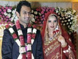 Sania Mirza and Shoaib Malik on their wedding day. PHOTO: FILE