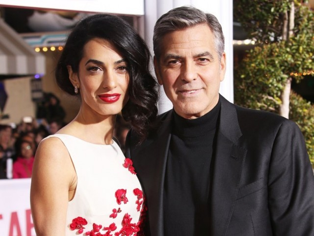George Clooney and wif...