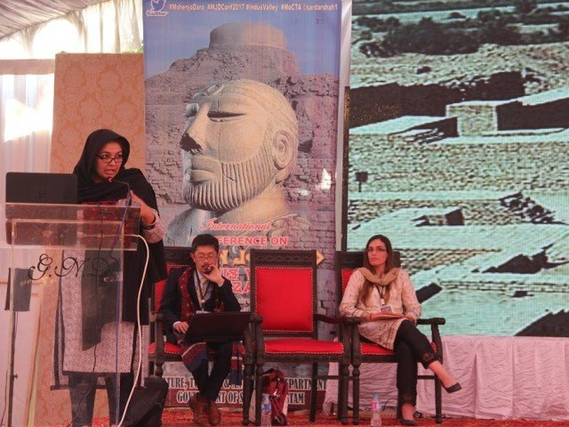 Dr Uzma Rizvi explores sociopolitical aspects of urbanism in Mohen Jo Daro. PHOTO: AYESHA MIR