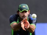 Mohammad Irfan during a practice session. PHOTO: AFP