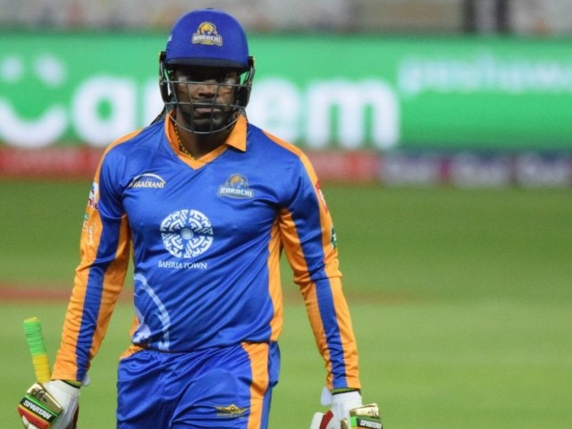 Under the spotlight: Gayle hasn't been performing well in the ongoing PSL and the left-handed opener would be looking to return to form against his former team. Photo Courtesy: PSL