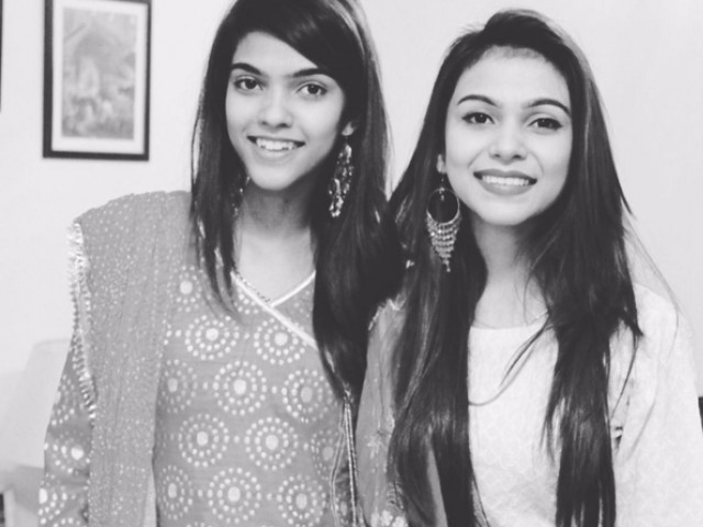 Zara Khan (L) and Zoya Khan (R). PHOTO: ZOYA KHAN