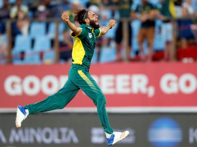 Tahir claimed five wickets in South Africa's 78-run T20I win over New Zealand. PHOTO: REUTERS