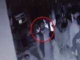 Screen grab from CCTV video played by IG SIndh