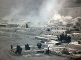 Photo shows military shelling on terror hideouts inside Afghanistan. PHOTO: EXPRESS