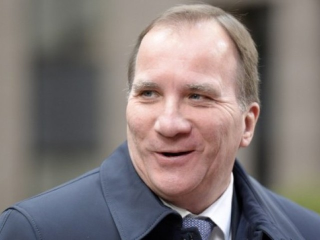 In this file photo, Sweden's Prime Minister Stefan Lofven arrives for a summit on relations between the European Union and Turkey and on managing the migration crisis, on November 29, 2015 in Brussels. PHOTO: AFP