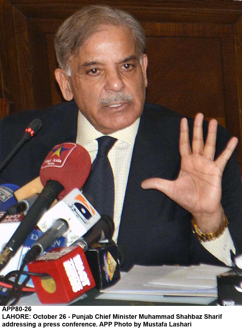 Shahbaz Sharif. PHOTO: APP