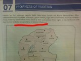 AJK mentioned as 'Pakistan Occupied Kashmir' in 5th graders' textbook