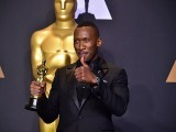 Mahershala Ali poses with the Oscar for best actor in a supporting role on February 26, 2017. PHOTO: AFP