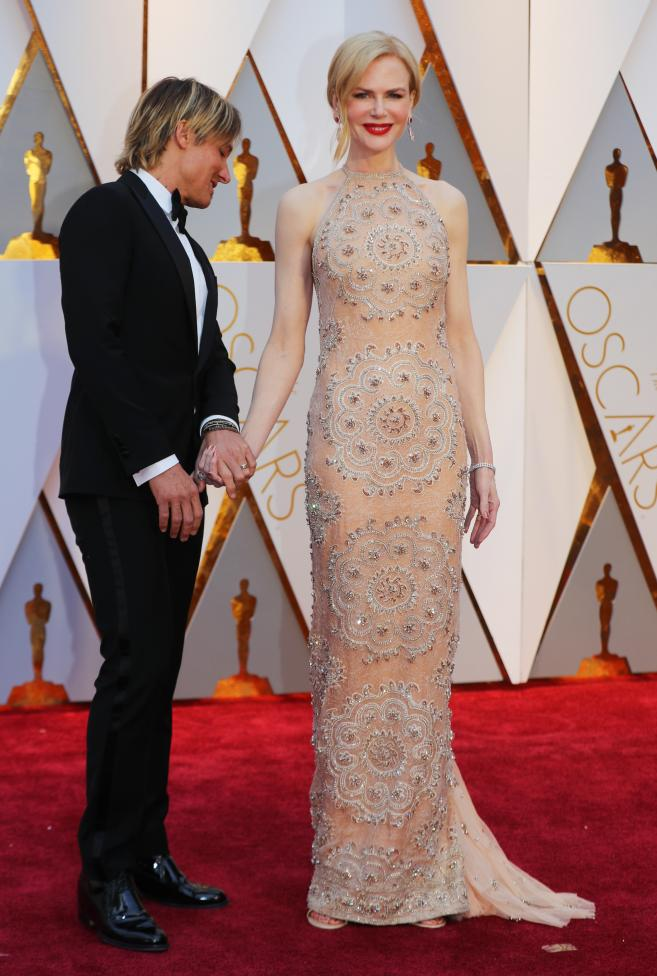 Nicole Kidman in Armani Prive. REUTERS/Mike Blake