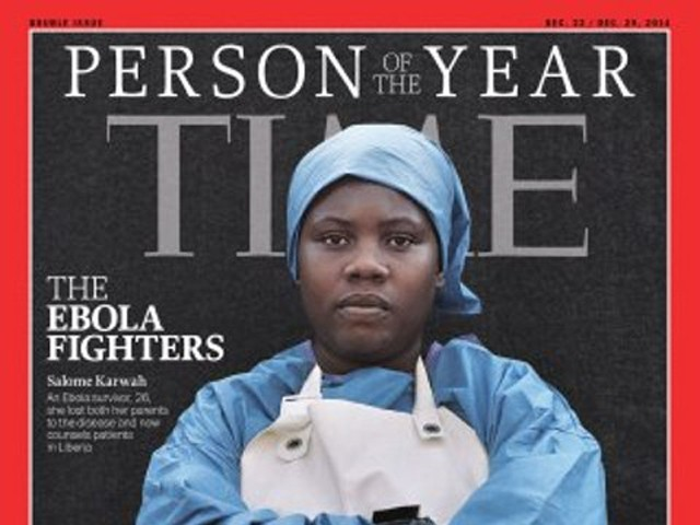 Salomé Karwah was one of five people featured on the Time magazine cover for their work battling Ebola. PHOTO: TIME MAGAZINE COVER