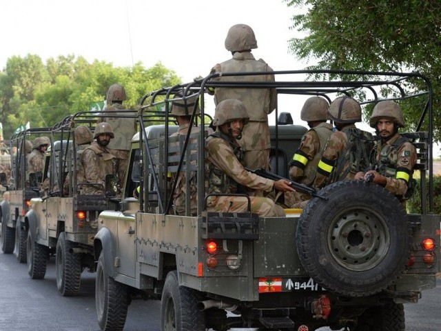 A photo of Pakistan army. PHOTO: AFP