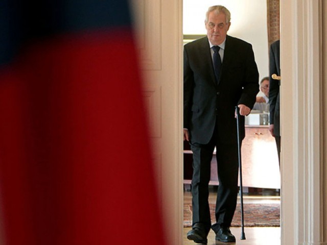 Czech President Milos Zeman. PHOTO: REUTERS