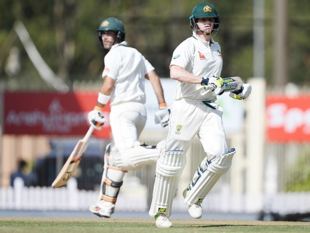 Smith and Maxwell partnered up for a 159-run stand. PHOTO: AFP