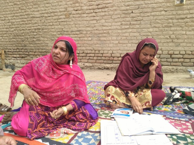 Zubaida Janwri changed people's perceptions and now has womena and men from 14 villages standing by her. PHOTO: EXPRESS
