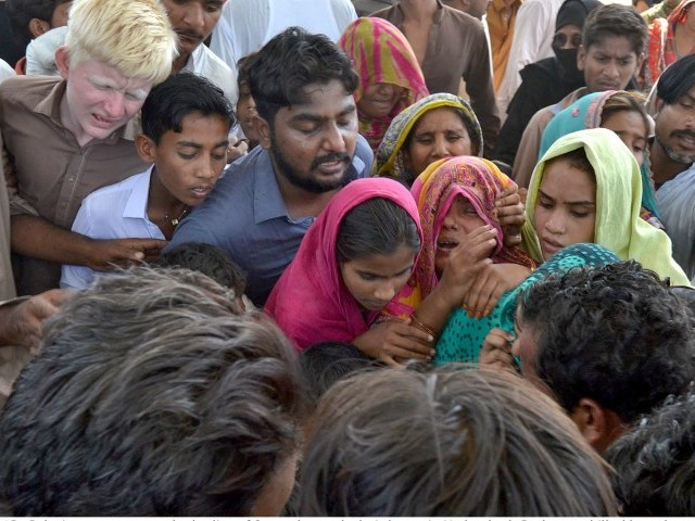 Relatives of the young men expressed their grief when the bodies were brought back to Hyderabad. PHOTO: INP
