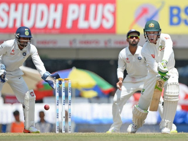 The tourists eventually reached 204-6 at stumps on the fifth and final day. PHOTO: AFP