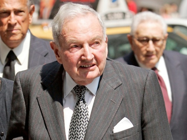 David Rockefeller arrives at the funeral service for New York socialite and philanthropist Brooke Astor at St. Thomas Church in New York. PHOTO: REUTERS