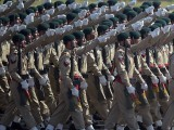 Soldiers march past during a Pakistan Day military parade in Islamabad on March 23, 2017. PHOTO: AFP