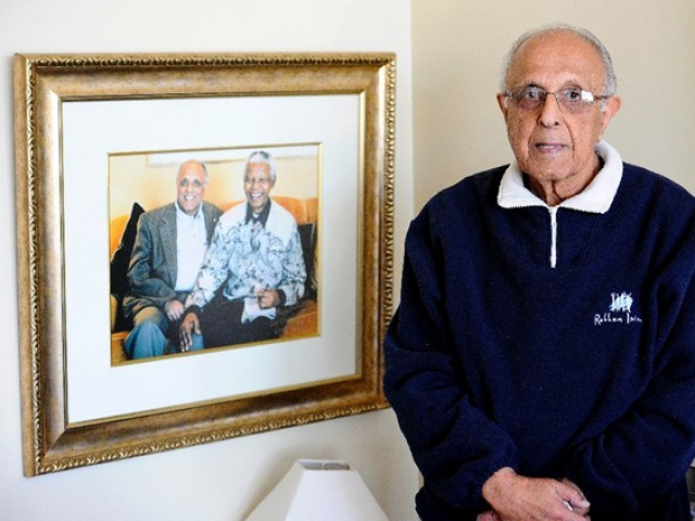 Ahmed Kathrada was one of Nelson Mandela's closest colleagues in South Africa's long struggle against white rule. PHOTO: AFP