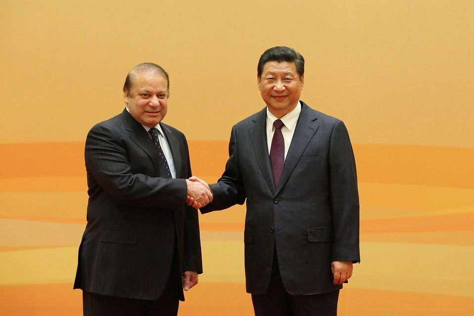 Prime Minister Nawaz Sharif with Chinese President Xi Jinping. PHOTO: REUTERS