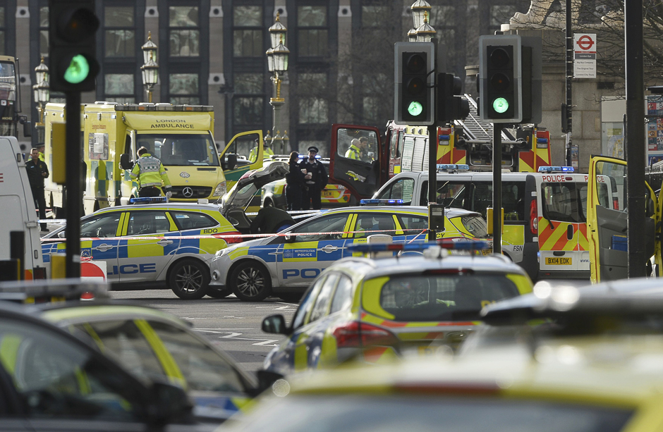 Emergency services respond after the incident. PHOTO: REUTERS