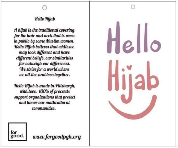 The card. PHOTO: HELLO HIJAB