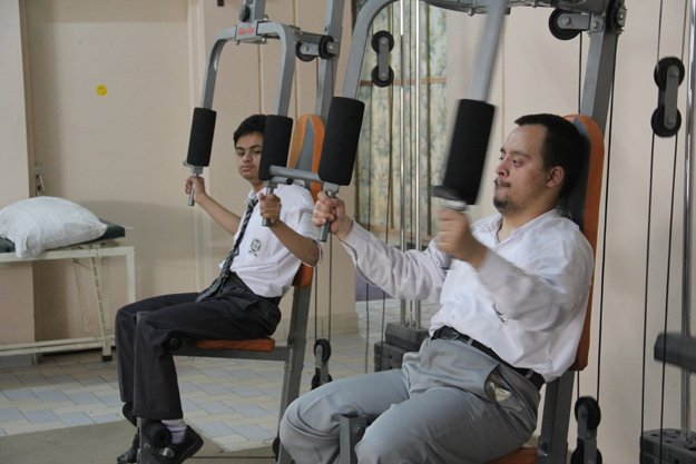 The complex also offers physical therapy to the students. PHOTO: AYESHA MIR/EXPRESS
