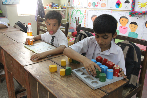 The students are given the opportunity to learn in an interactive, fun environment. PHOTO: AYESHA MIR/EXPRESS