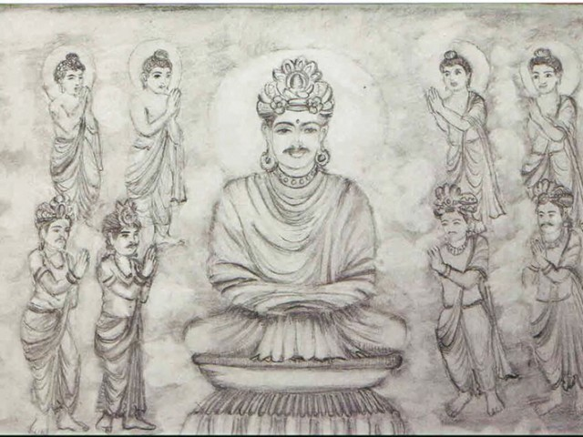 Sketches of Buddha that will go on display at PNCA. photos: express