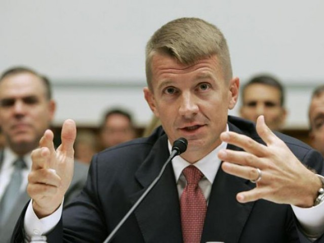 Blackwater founder, Erik Prince, is known to have close connections to the Trump administration despite not playing an official role. PHOTO: REUTERS