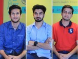 With little money and tons of passion for displaced people, civil engineering students Nabeel Siddiqui (left), Yaseen Khalid (middle) and Muhammed Saquib (right) find a unique housing solution.