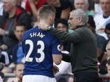 manchester-uniteds-luke-shaw-is-congratulated-by-manager-jose-mourinho-as-he-is-substituted