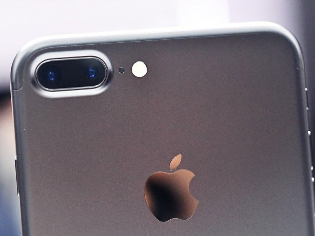 The iPhone 7 on display. PHOTO: AFP