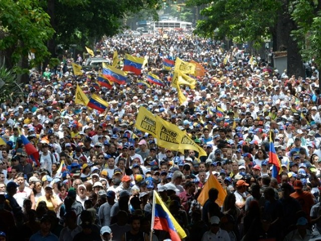 Venezuelan opposition protest against Maduro again