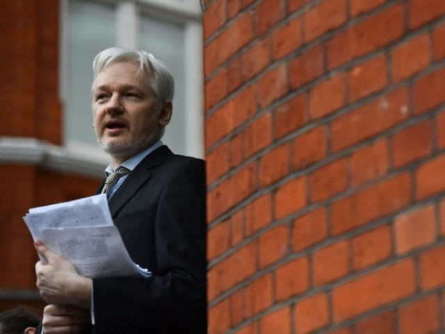 WikiLeaks founder Julian Assange has been holed up at the Ecuadoran embassy in London since 2012 trying to avoid extradition to Sweden where he faces a rape allegation that he denies. PHOTO: AFP