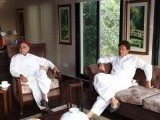 Khar and Imran meeting at the latter's Bani Gala residence. PHOTO: FACEBOOK