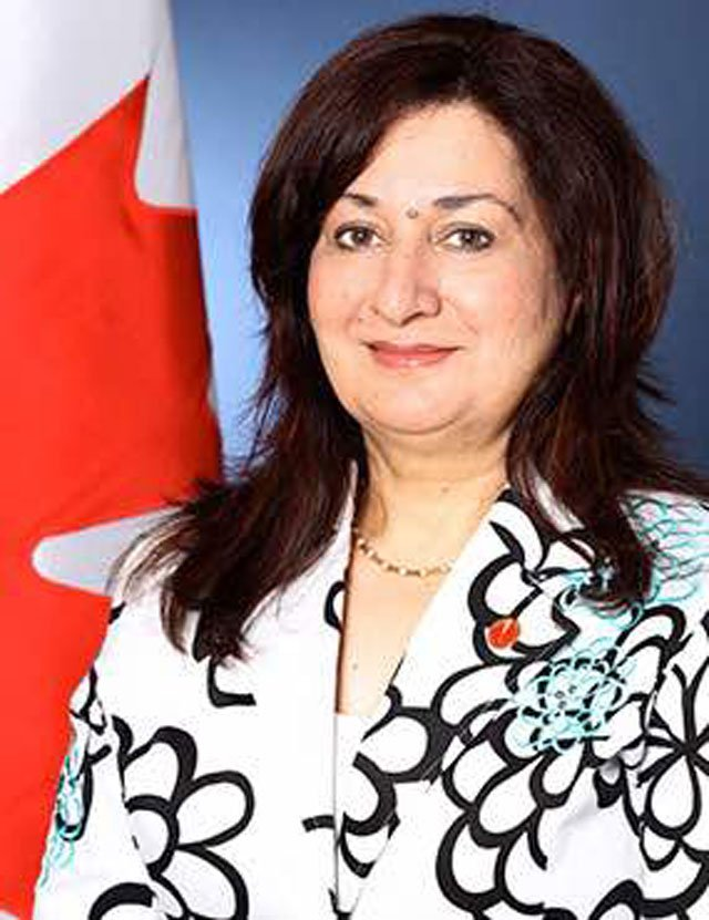 Pakistani-Canadian Senator Salma Ataullah Jan. PHOTO: EXPRESS