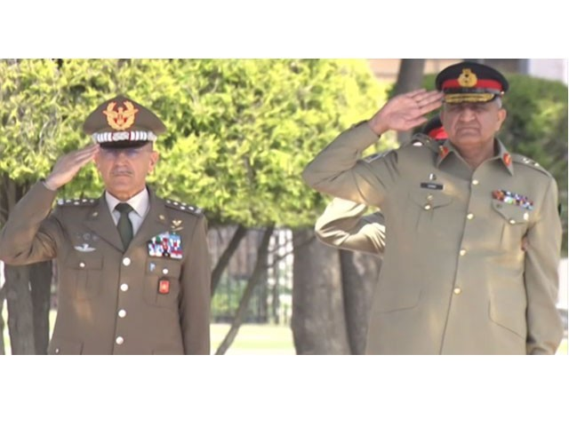 The visiting military dignitary pays visit at GHQ and acknowledges Operation Radd-ul-Fasaad gains made so far. SCREENGRAB
