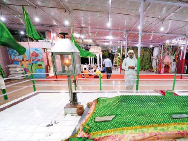 The integrated shine of Sayyed Darbar and Sankat Mochan Vir Hanuman Mandir are two structures that aren't even separated by a wall. PHOTO: TOI