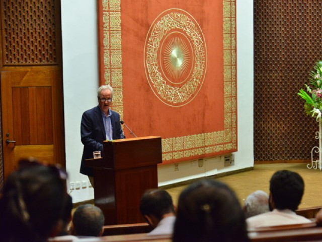 Prof Leif Stenberg delivering lecture on 'Science and Islam'. PHOTO: COURTESY AKUH
