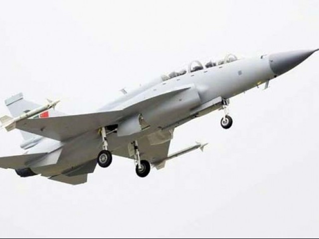 The dual-seat thunder aircraft was co-developed by Pakistan and China. PHOTO: INP