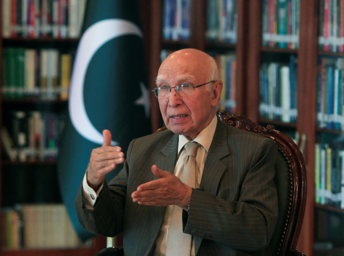 Prime Minister's Adviser on Foreign Affairs Sartaj Aziz says peace in Afghanistan is vital for Pakistan's security. PHOTO: Reuters
