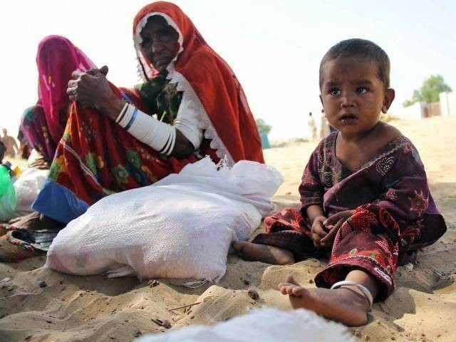 The SHC had called for the report, expressing displeasure over the state of affairs in Tharparkar regarding dying children, unfair distribution of wheat and non-availability of water, health and education facilities. PHOTO: ONLINE